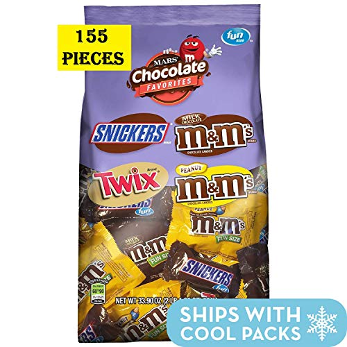Snickers, M&M'S & Twix Fun Size Candy Variety Mix, 200 Pieces
