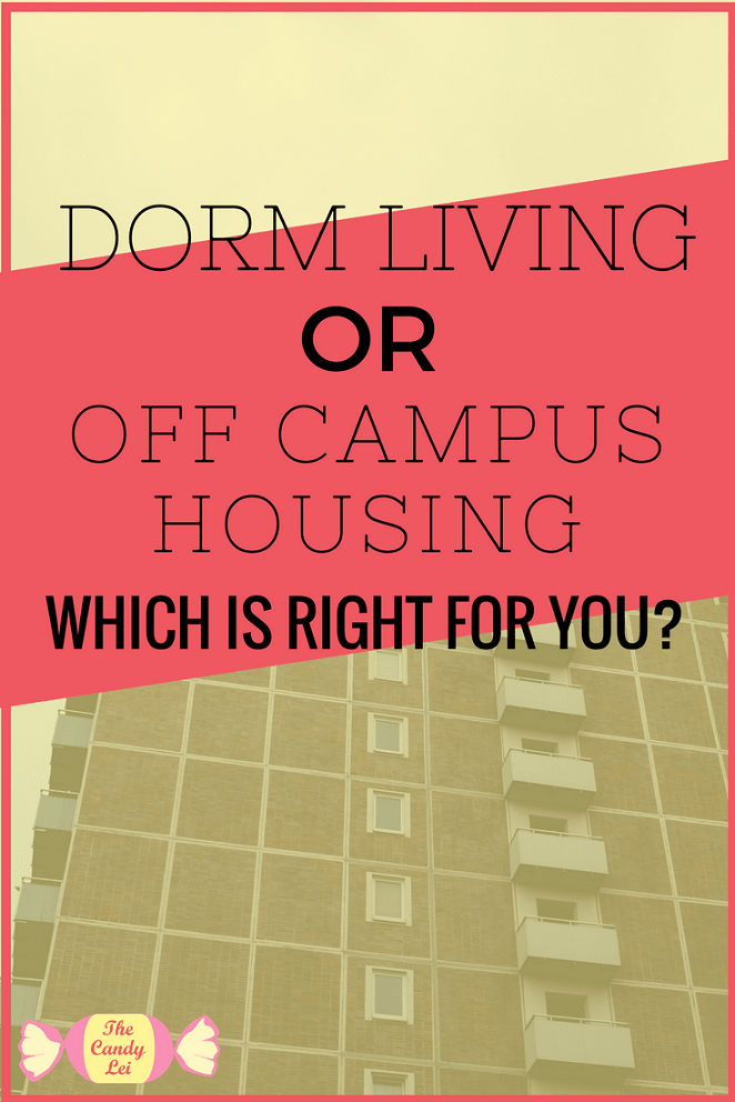 Should you livein he dorms or in off campus housing? This guide will help you decide.