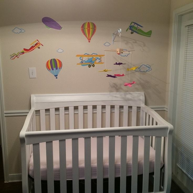 Nursery in a one bedroom apartment