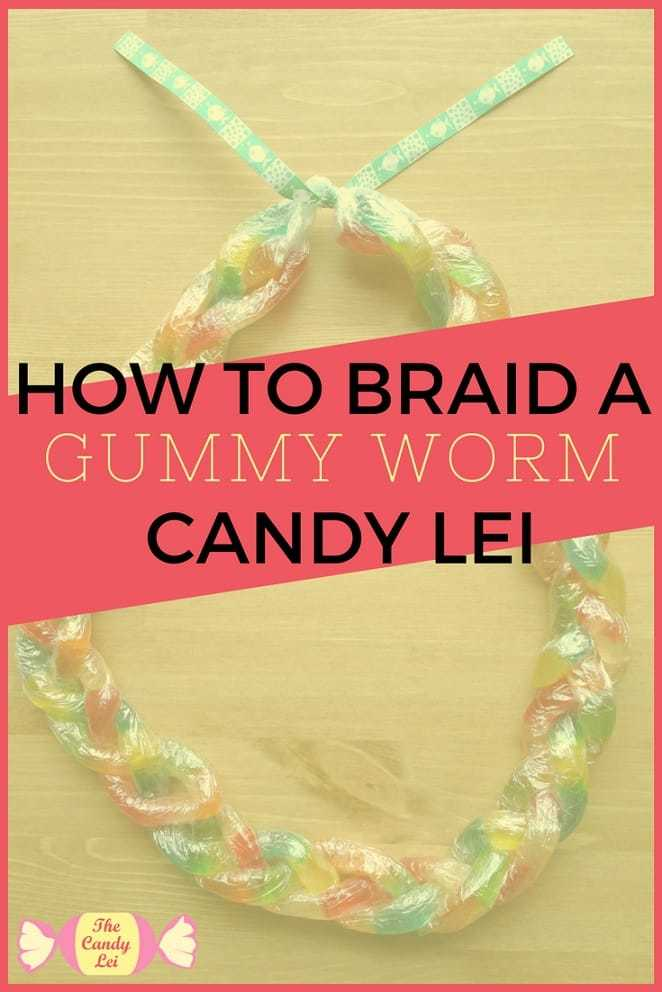 How to make a gummy worm graduation lei