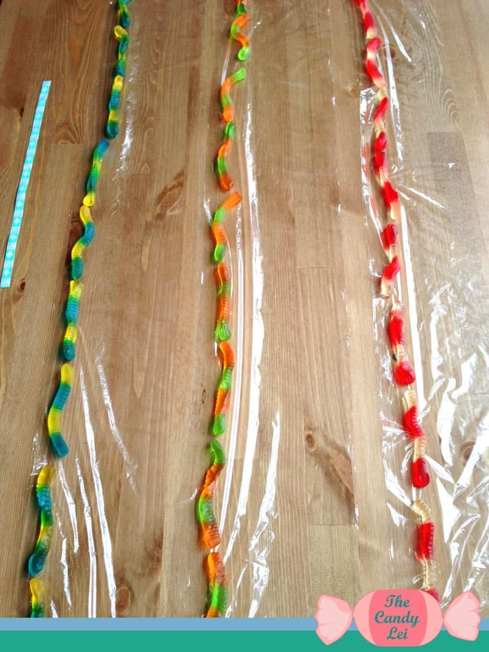 Roll up your gummy worm lei