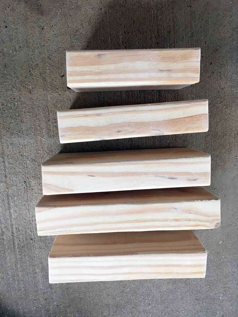 Raw 2x4s for giant pumpkin fall decor