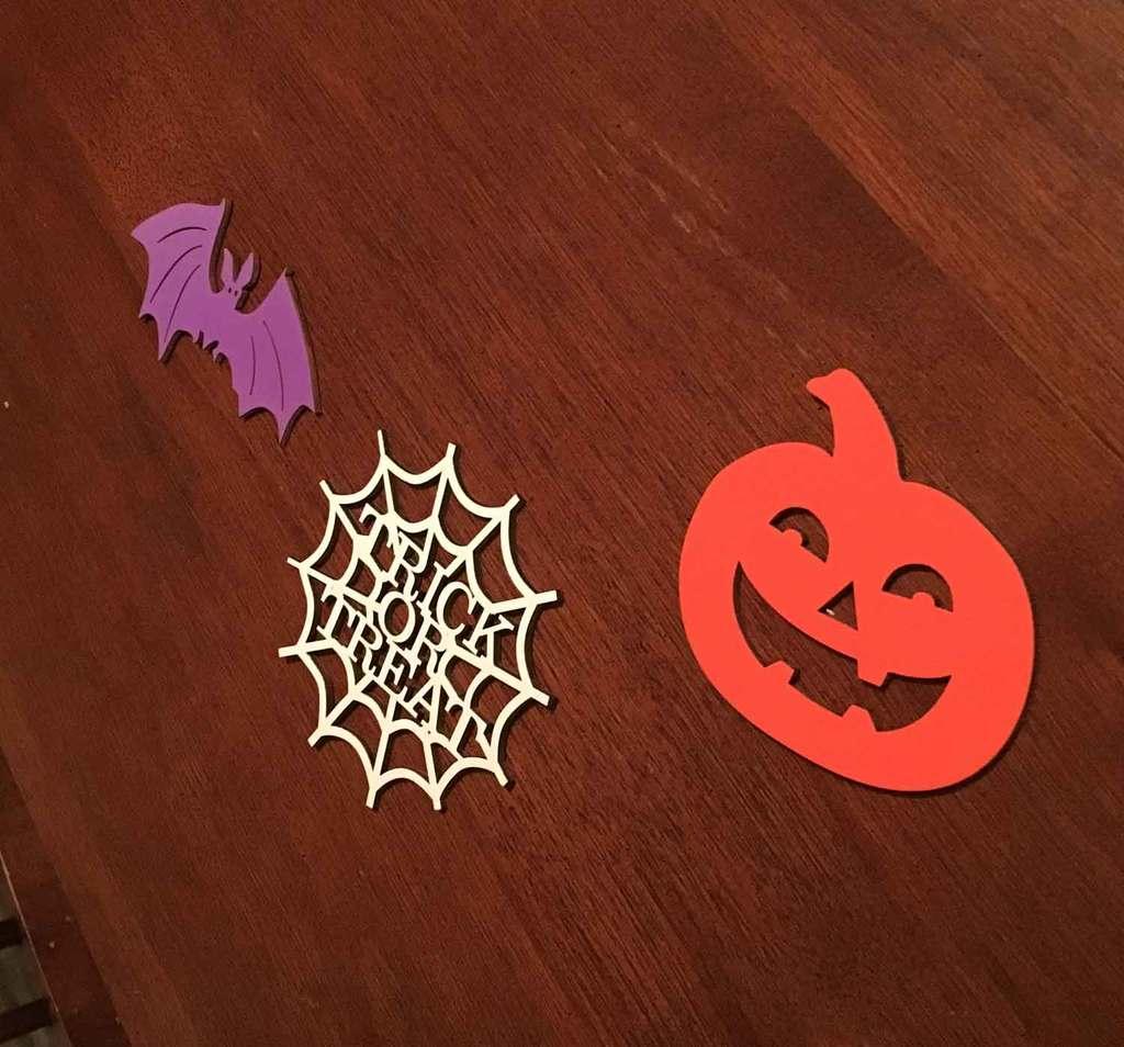 Halloween wood cutouts for boo sign door hanger