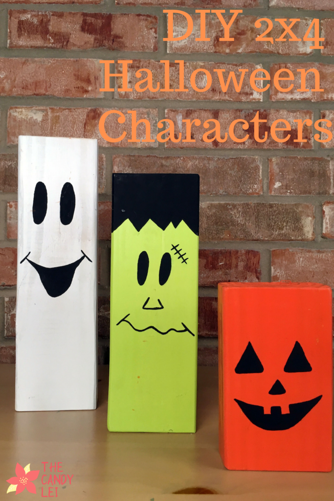 These easy to make 2x4 Halloween characters are perfect for your Halloween decor
