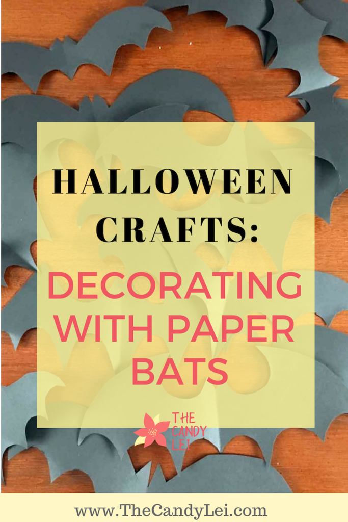 Halloween Craft: Decorating with Paper bats