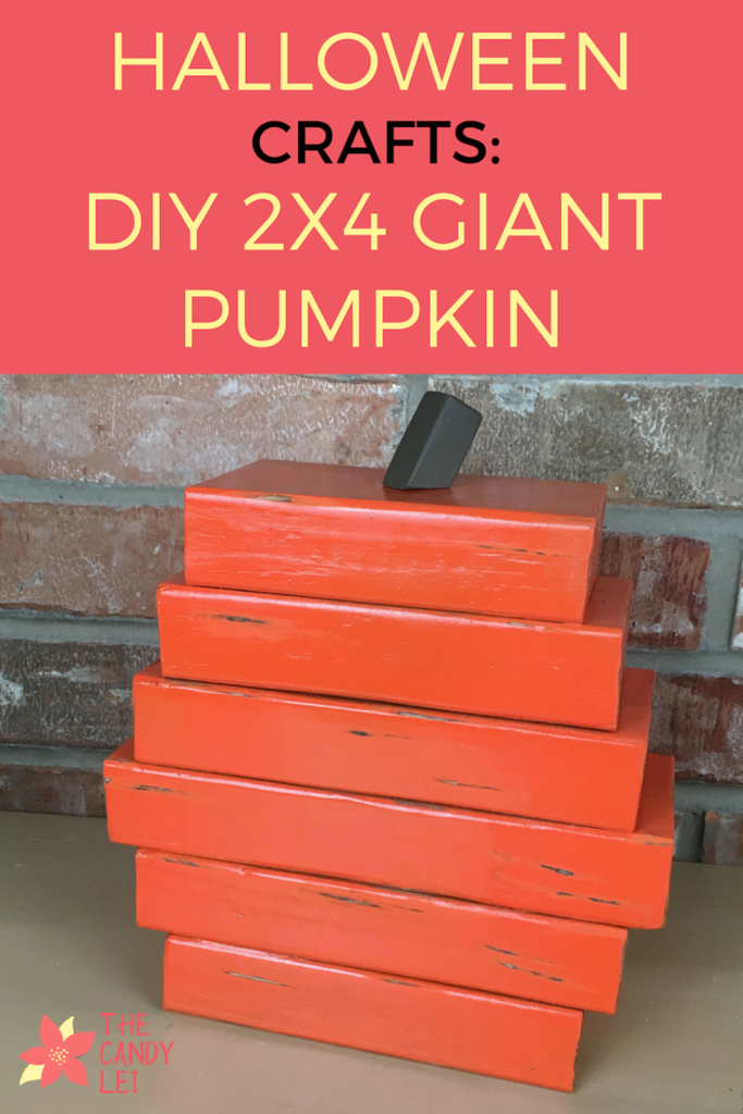 Halloween Crafts - DIY 2x4 Giant Pumpkin