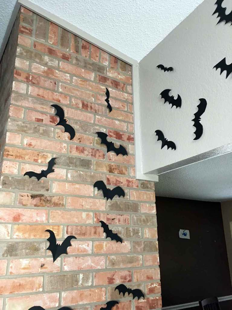 decorate for halloween with these easy to make paper bats