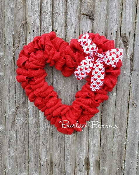 Hearth Shaped Wreath for Valentine's Day
