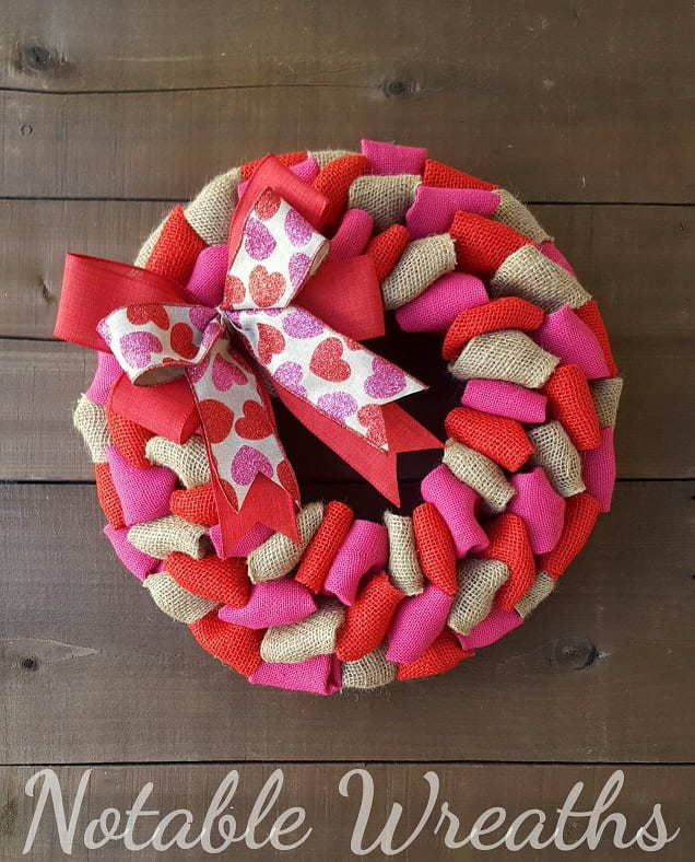 Cute Valentine's Day wreath for your front door