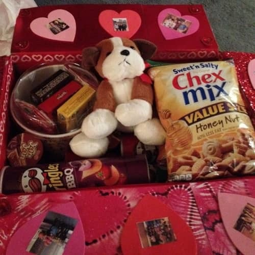 Cute Valentines day care package for your long distance relationship