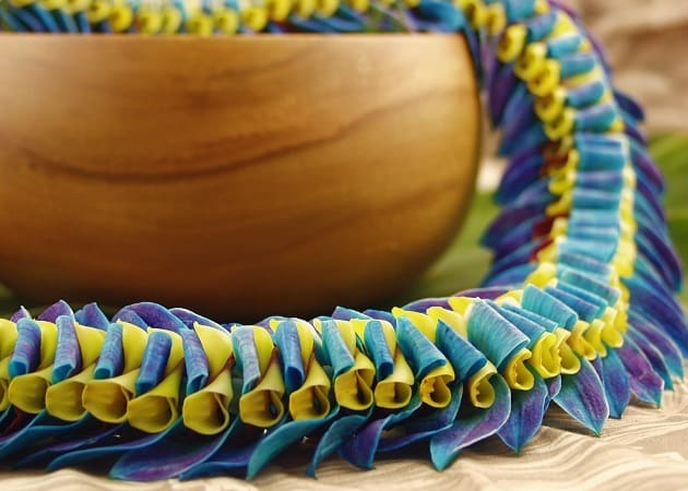 Braided Graduation Flower Lei from Aloha Island Lei