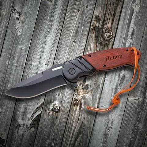 Give him a truly unique and personalized Valentin's Day gift with this custom pocket knife.