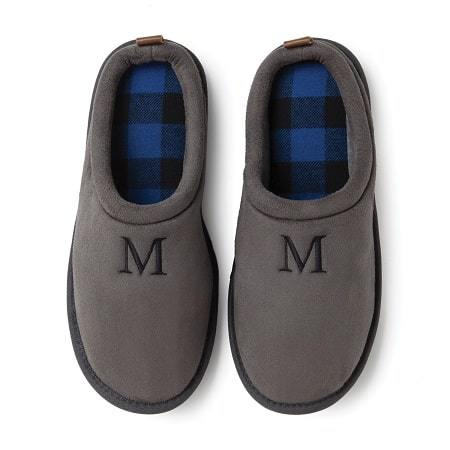 Keep him comfy and warm this winter with these personalized slippers for Valentine's Day