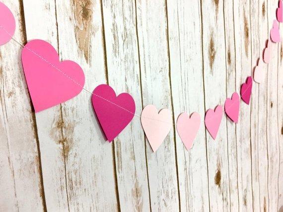 Paper Hears Valentine's Day Garland