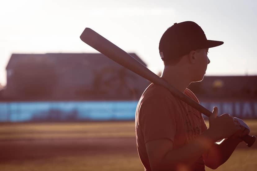 Senior picture for baseball player