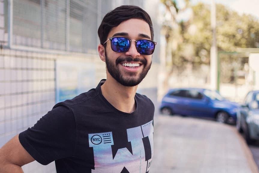 Senior picture in sunglasses