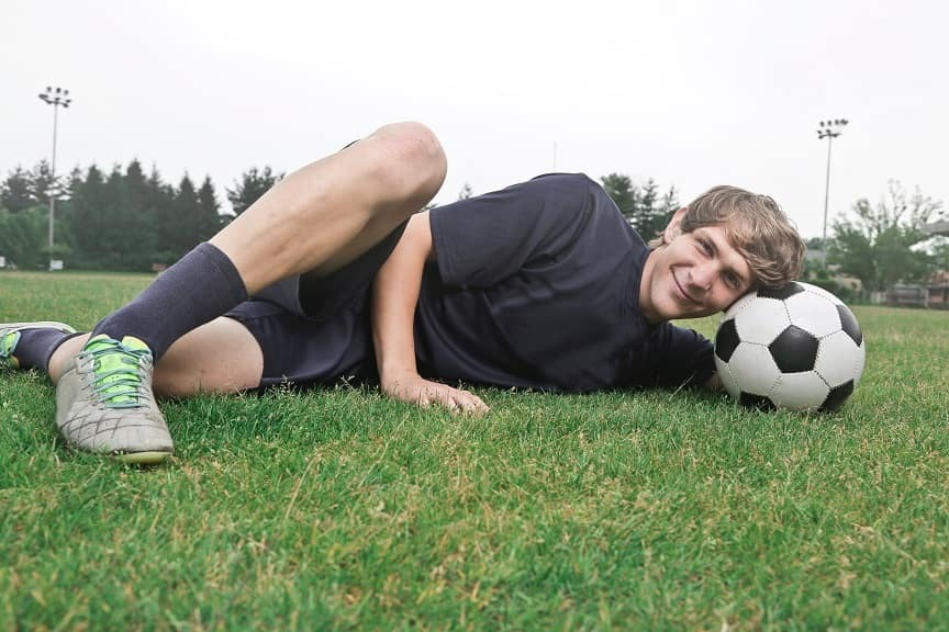 Senior pictures for soccer player