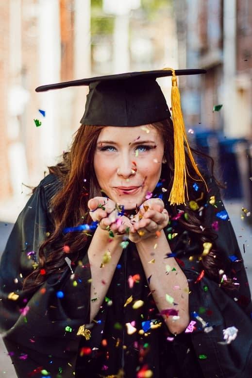 Women's graduation photo