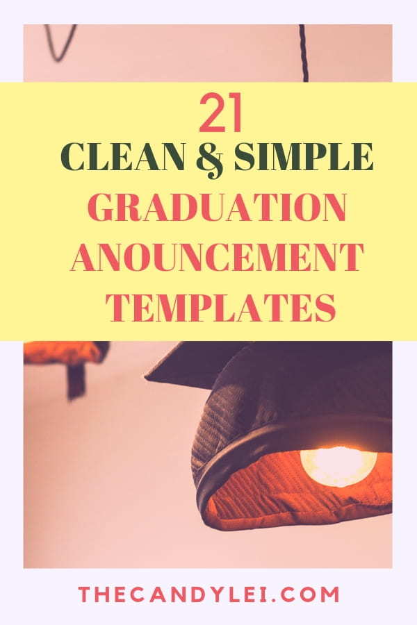 Elegant Graduation Announcement Templates