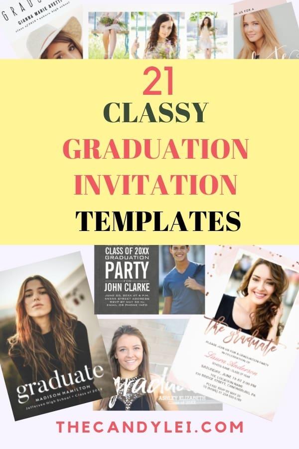 Classy Graduation Invitation Templates