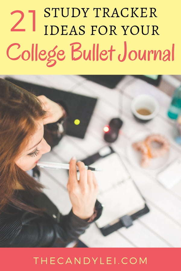 Study Tracker Ideas for College Bullet Journal