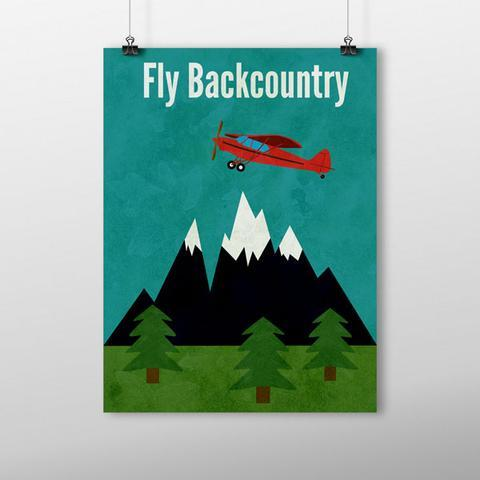 Backcountry flying print