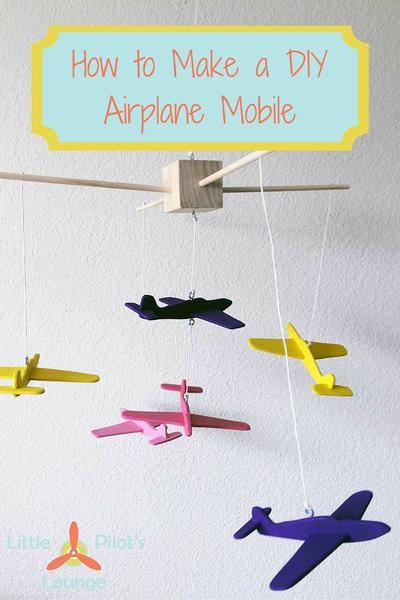 Learn how to make an airplane mobile for a nursery
