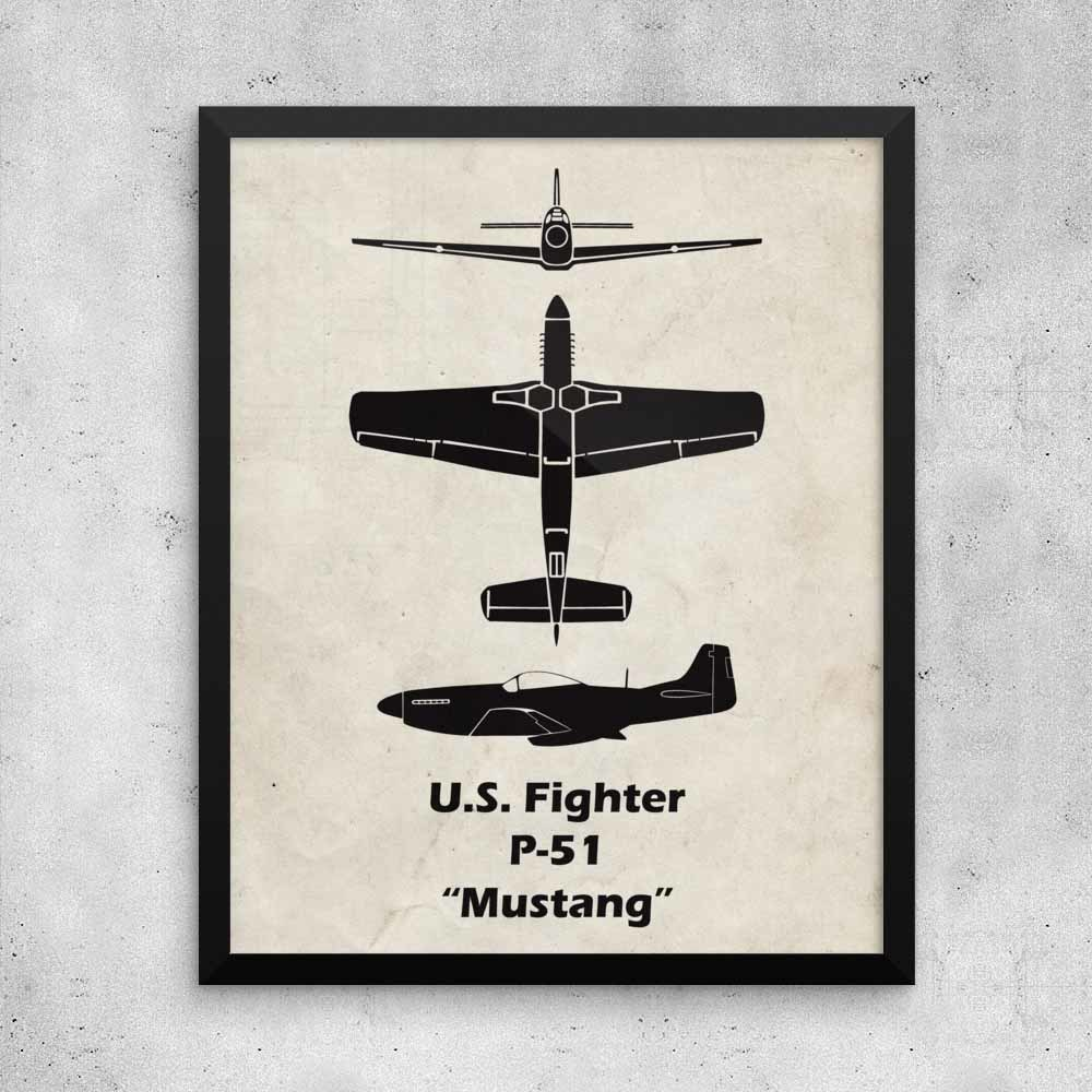 P-51 Poster is a great gift for a pilot