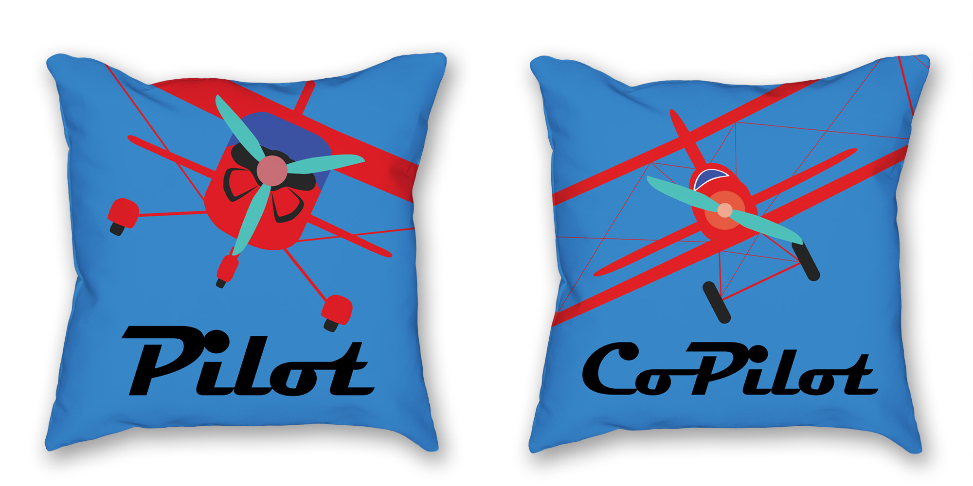 Pilot, Co-Pilot pillow gift set