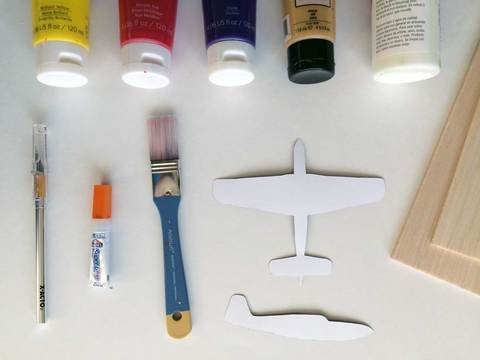 Supplies you'll need to make an airplane mobile