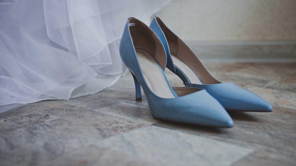 Blue shoes for graduation