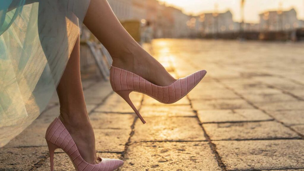 Pink shoes for graduation
