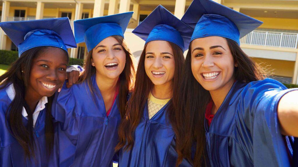 4 high school graduates