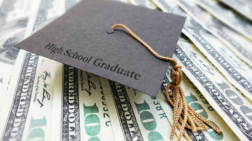 Give gift cards or cash for high school graduation